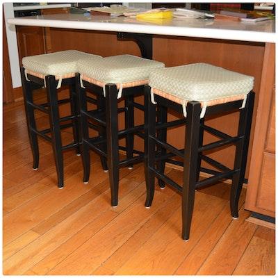 Awe Inspiring Painted Wood Counter Height Bar Stools Ebth Machost Co Dining Chair Design Ideas Machostcouk