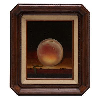 Peach Still Life Oil Painting