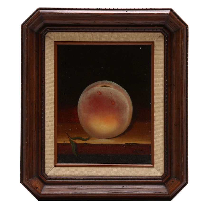Peach Still Life Oil Painting