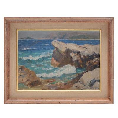 Niko Miljan Seascape Oil Painting