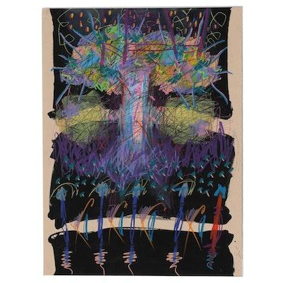 "Merle Rosen Mixed Media Painting ""Gaia"""