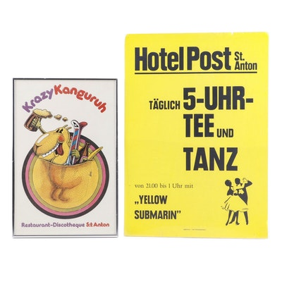 St. Anton Hotel and Restaurant Offset Lithograph and Lithograph Posters