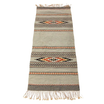 Handwoven American Southwestern Style Long Rug