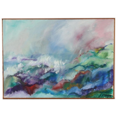 Alleen Blesi Humpert 1996 Abstract Oil Painting