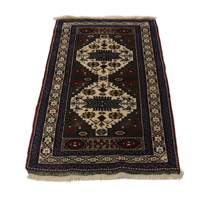 Hand-Knotted Afghan-Caucasian Kazak Rug