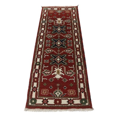 Hand-Knotted Indo-Caucasian Carpet Runner