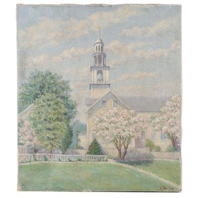 C.B. 1922 Oil Painting
