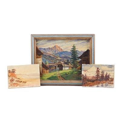 1940s Landscape Oil Paintings