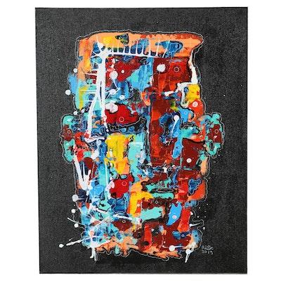 """Robert Wolverton Jr. Acrylic Painting """"Taking Time"""""""