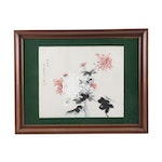 Chinese Watercolor Painting of Chrysanthemums