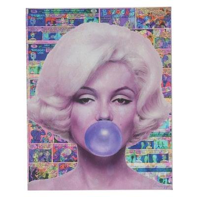 "Crisp Pop Art Giclée ""Bazooka Monroe"""