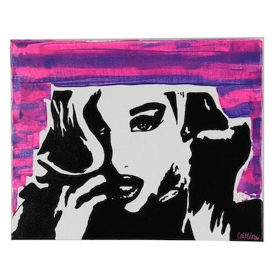 """Caitlin Garza Acrylic Painting """"Scandal"""""""
