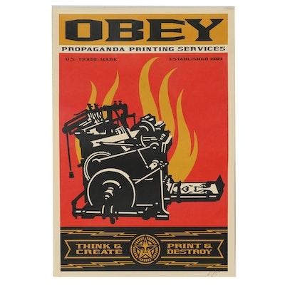 "Shepard Fairey Offset Print ""Propaganda Printing Services"""