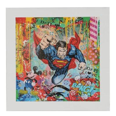 "Dr 8 Love Giclée ""Follow Superman"""