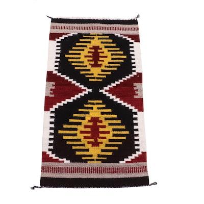 Handwoven Southwestern Style Geometric Wool Rug