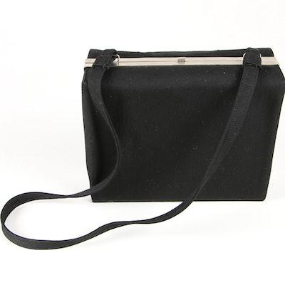 Giorgio Armani Le Collezioni Black Textile Box Purse