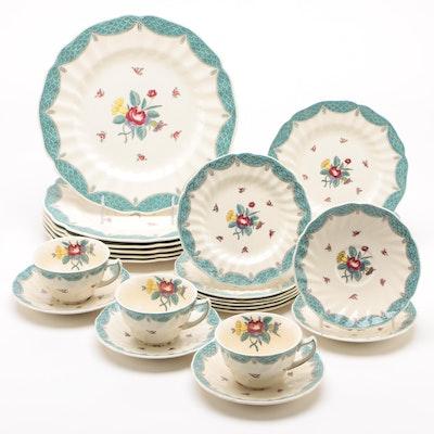 """Royal Doulton """"Lowestoft Bouquet"""" Porcelain Dinnerware, 1940 - 1948"""
