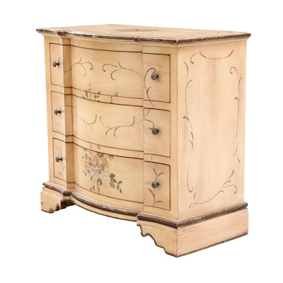 Chest of Drawers with Painted Floral Motifs
