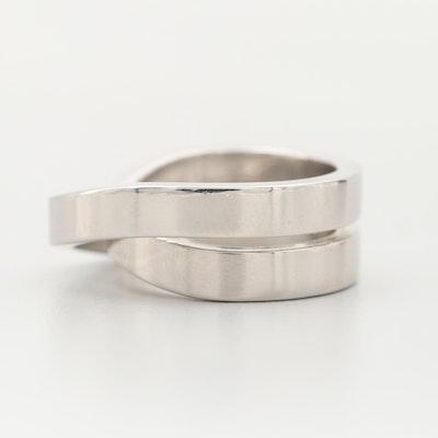 """Cartier """"Nouvelle Vague Paris"""" 18K White Gold Ring with Box"""