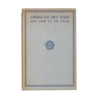 "Signed 1931 ""American Dry Flies"" by Edgar Burke"