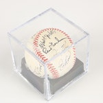 St. Louis Cardinals Multi-Autographed Baseball with Lou Brock, La Russa, 1999