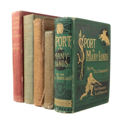 Hunting and Adventure Books featuring First Editions