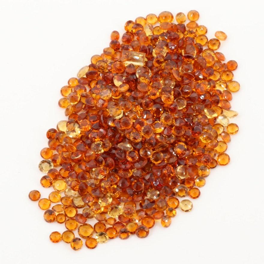 Loose 67.75 CTW Citrine Gemstones