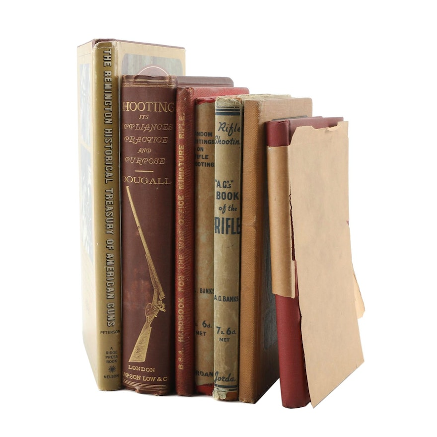 """Antique and Vintage Firearm Books including First Edition """"Rifle-Craft"""""""