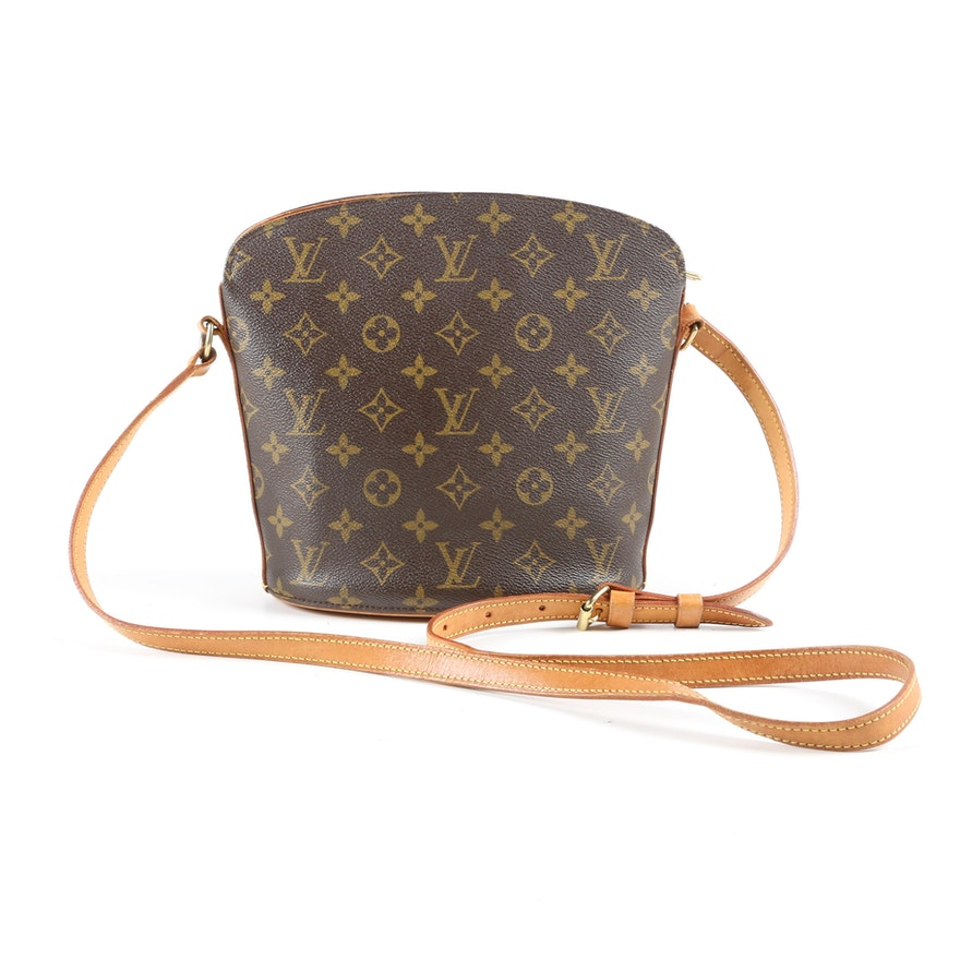 Louis Vuitton Paris Drouot Bag in Monogram Canvas and Vachetta Leather