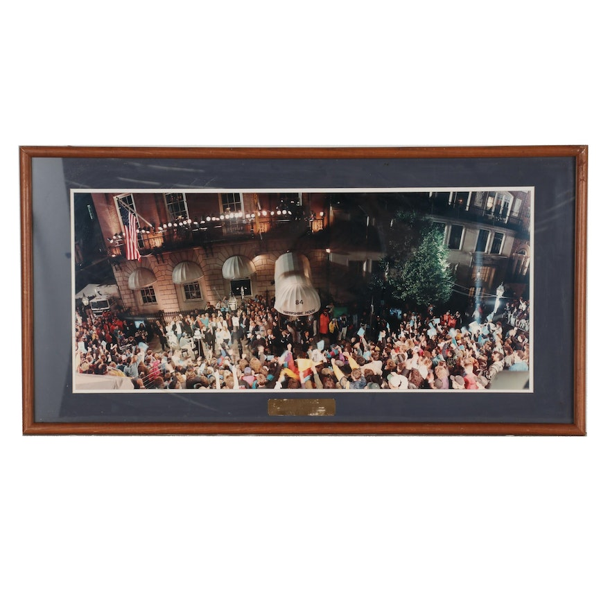 """Rob Arra 1993 Photograph """"Ted Danson at Cheers Last Call"""""""