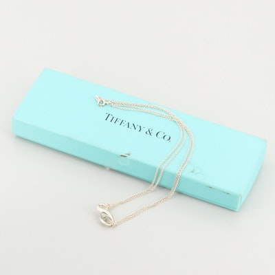 """Tiffany & Co. """"Infinity"""" Collection Sterling Silver Necklace"""