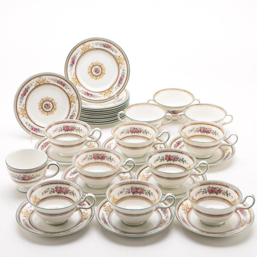 "Wedgwood ""Columbia White"" China Teacups and Saucers, 1924 - 1997"