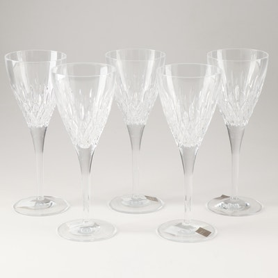 """Monique Lhuillier for Waterford """"Arianne"""" Lead Crystal Goblets"""