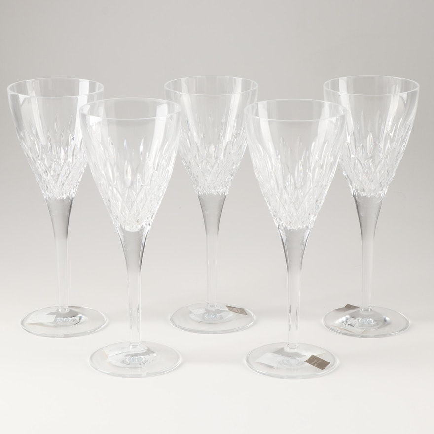 "Monique Lhuillier for Waterford ""Arianne"" Lead Crystal Goblets"