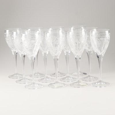 "Varga ""Imperial"" Lead Crystal Wine Glasses"