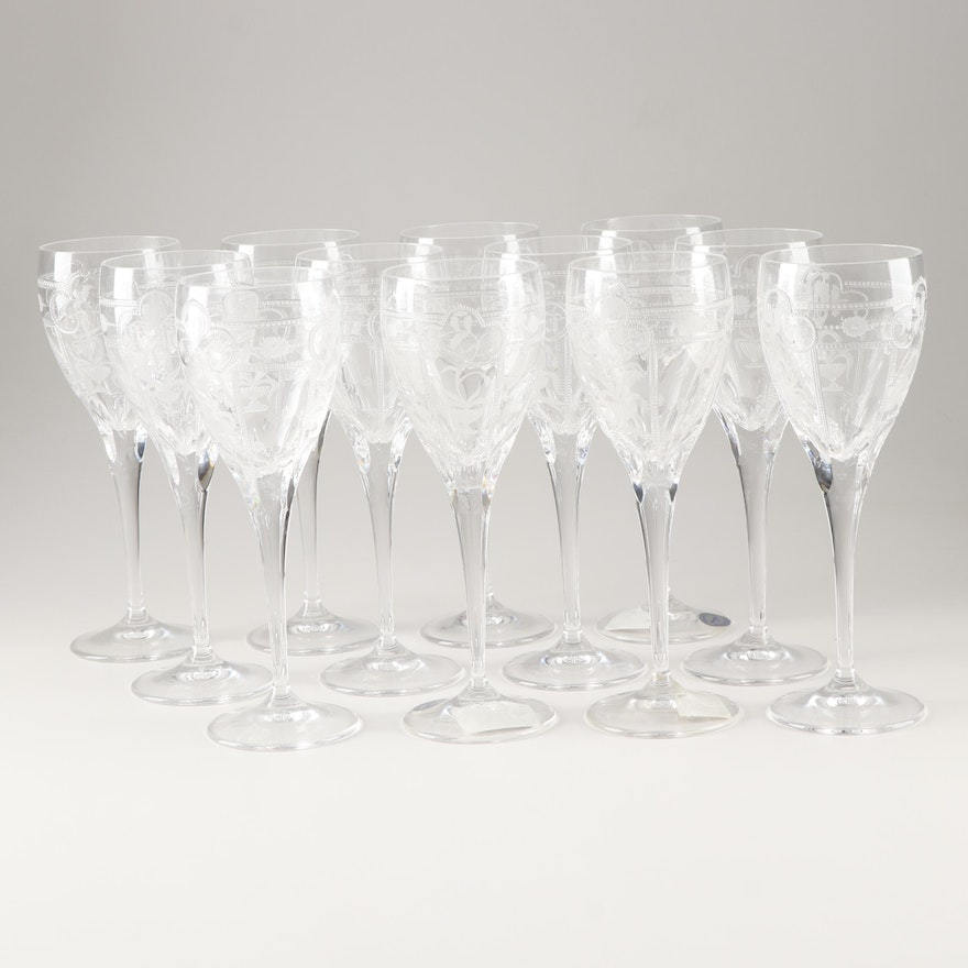 "Varga ""Imperial"" Lead Crystal Wine Glasses"