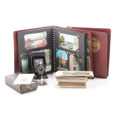 Kodak Brownie Camera, Stereoscope Cards, and Postcards