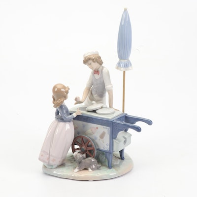 "Lladró ""Ice Cream Vendor"" Porcelain Figurine"