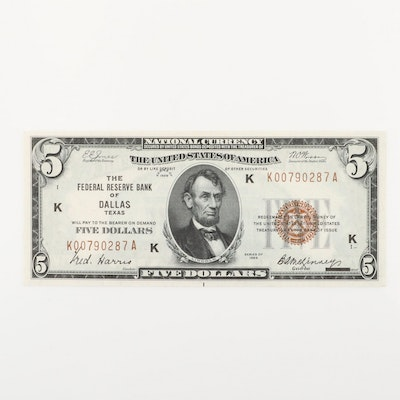 Series of 1929 U.S. $5 Federal Reserve Note