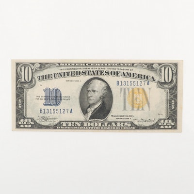 1934-A U.S. $10 Silver Certificate with Yellow Seal