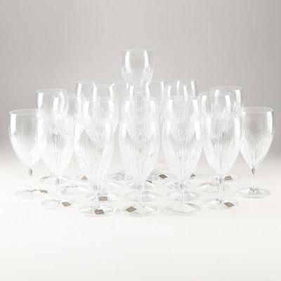 """Monique Lhuillier for Waterford """"Stardust"""" Lead Crystal Stemware"""