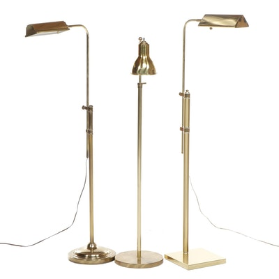 Brass Floor Lamps Including Stiffel, Late 20th Century