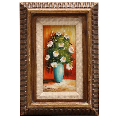 Oil Painting of Floral Scene