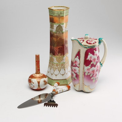 Japanese Kutani Bud Vase, Serving Set and More