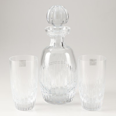 """Monique Lhuillier for Waterford """"Stardust"""" Decanter and Highball Glasses"""