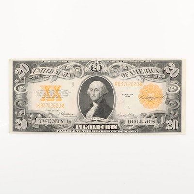 Series of 1922 U.S. $20 Gold Certificate