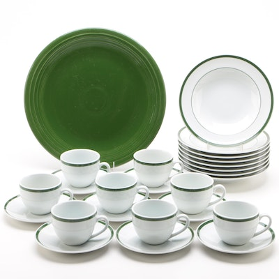 "Williams-Sonoma ""Brasserie Green"" Ceramic Dinnerware and Fiestaware Platter"