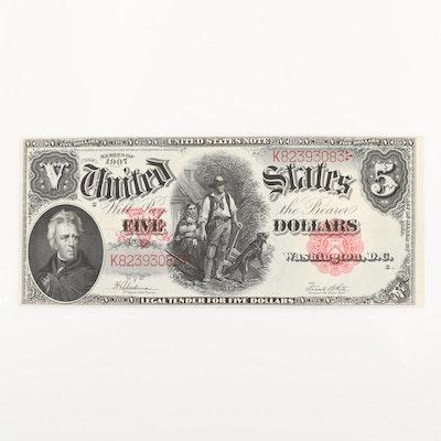 Series of 1907 U.S. $5 Legal Tender Note