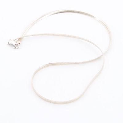 Sterling Silver Herringbone Necklace