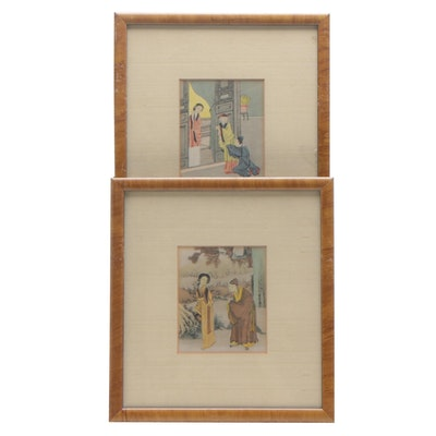 Chinese Hand-colored Collotype Prints